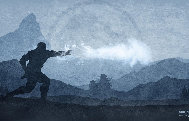 Photo wallpaper fighter, ninja, Sub-Zero, Mortal Kombat X