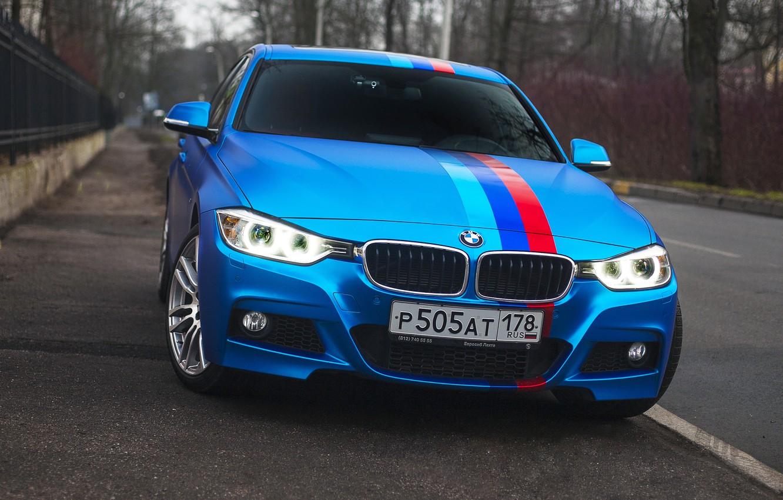 Photo wallpaper BMW, BMW, Car, Blue, 335i, f30