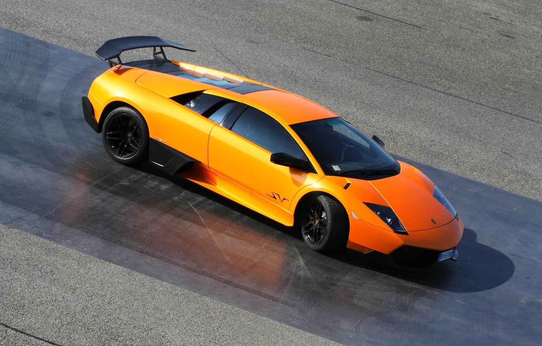 Photo wallpaper Lamborghini, Orange, LP670-4