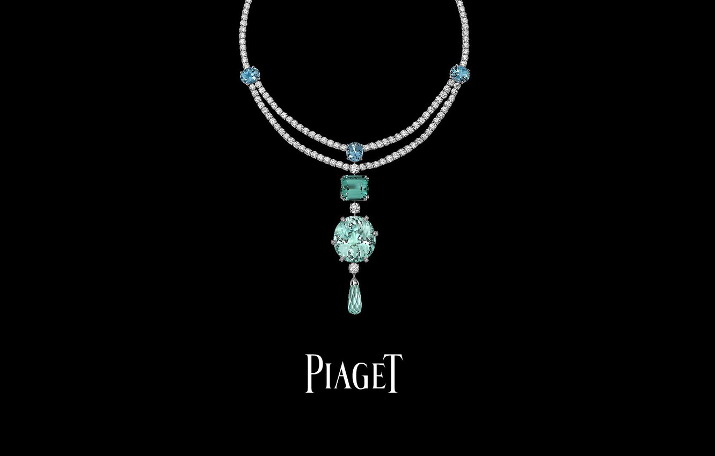 Photo wallpaper decoration, necklace, PIAGET