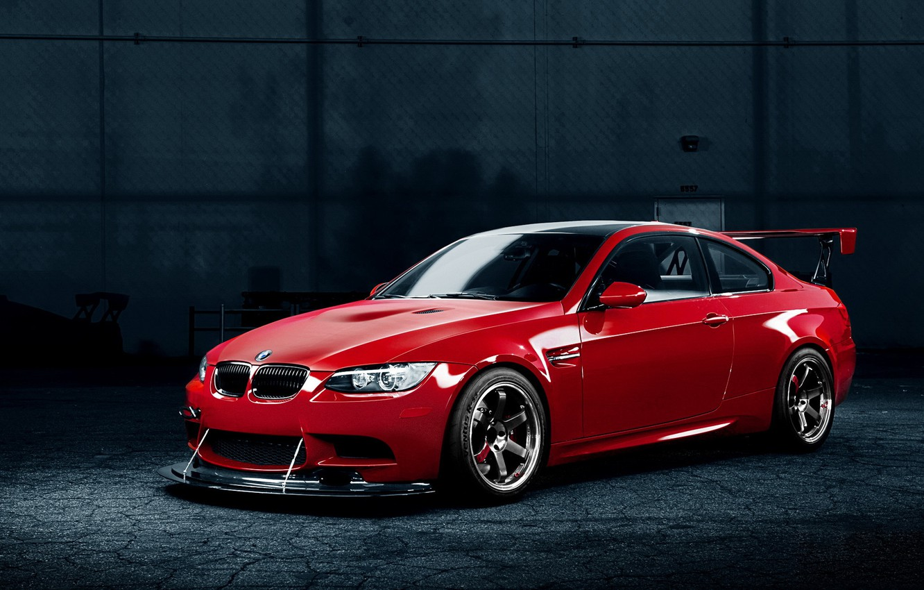 Photo wallpaper bmw, BMW, red, tuning
