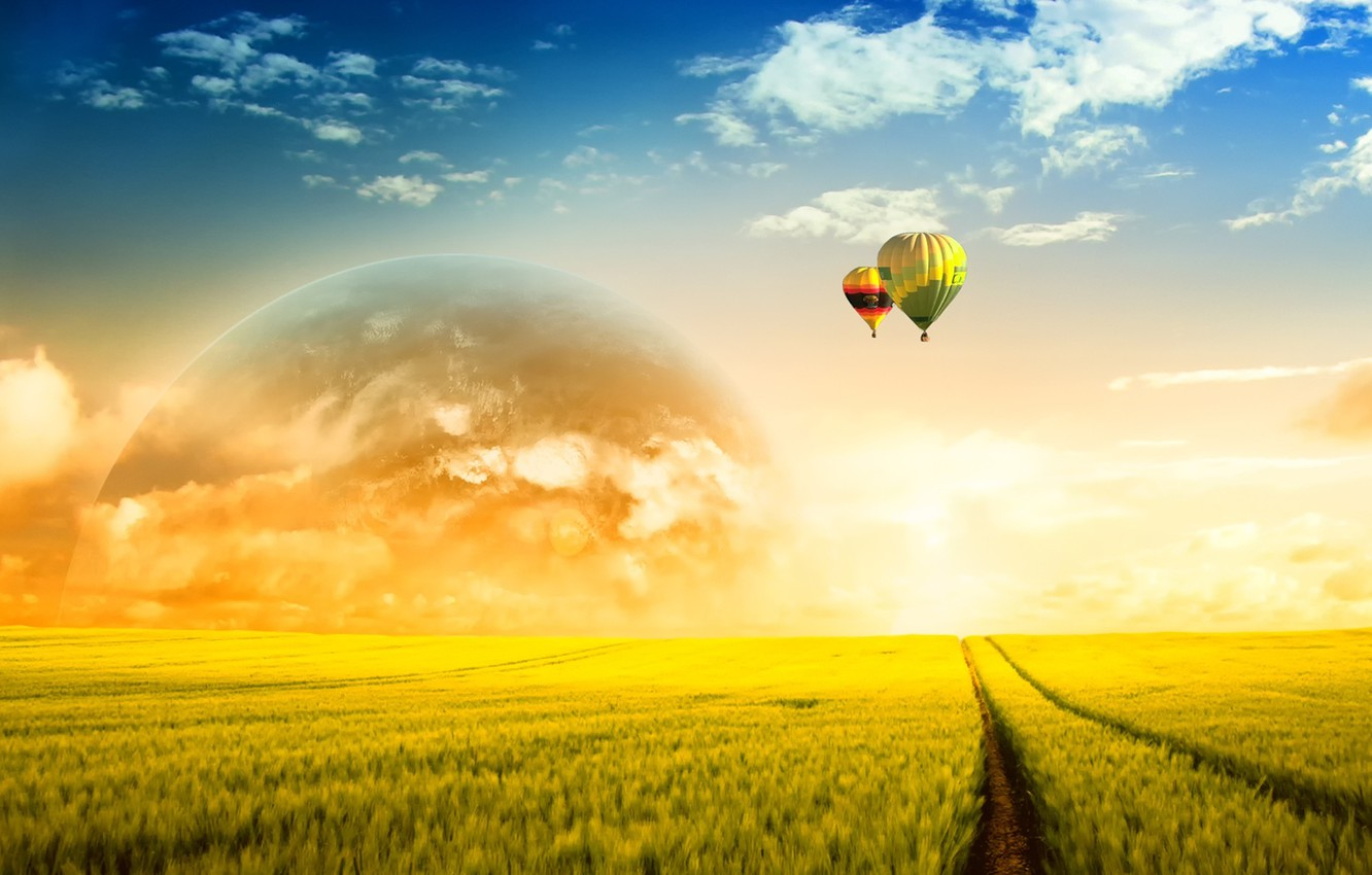 Photo wallpaper fantasy, country, Countryside