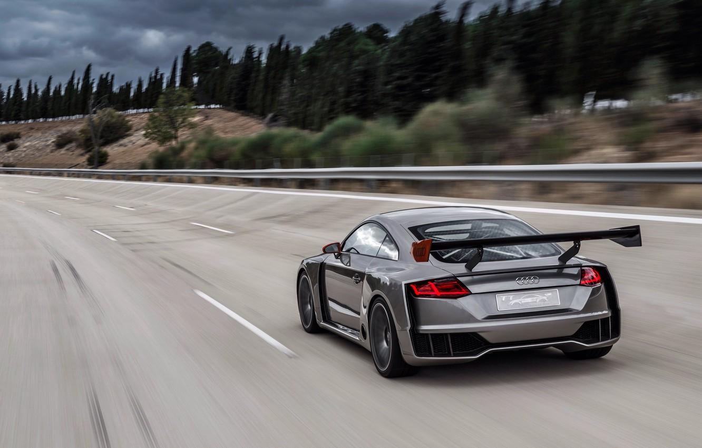 Photo wallpaper road, car, auto, Concept, Audi, speed, speed, TT, Clubsport Turbo