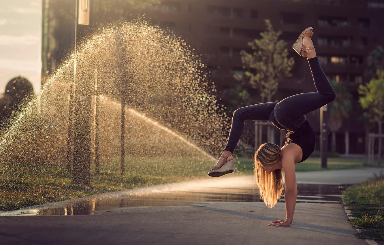 Photo wallpaper grace, class, gymnast, Eva Le Bolzer