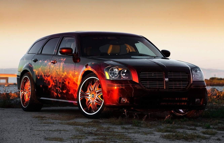 Photo wallpaper Dodge, airbrushing, Dodge, tuning, Magnum, Magnum