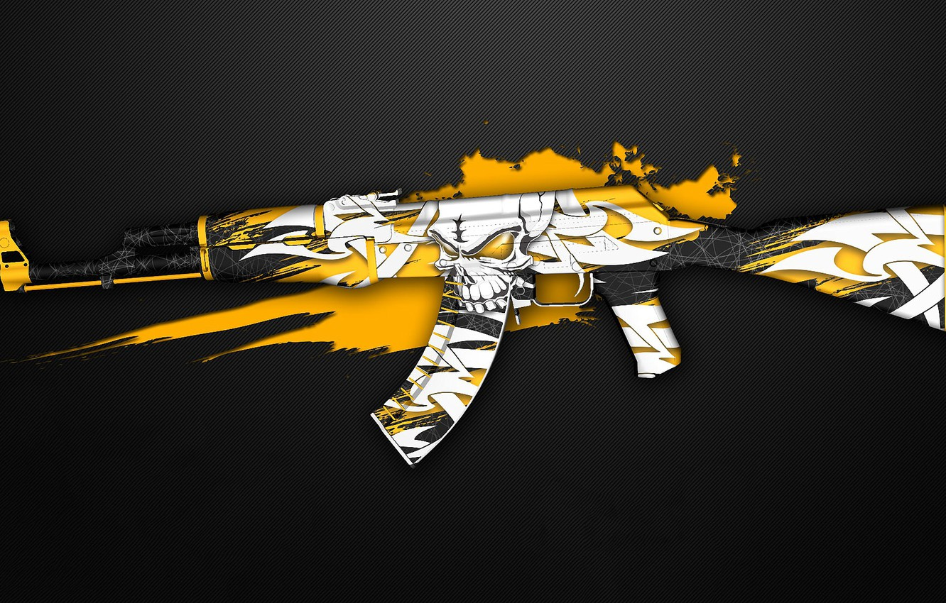 Wallpaper Graffiti Skull Ak 47 Paint Workshop Cs Go