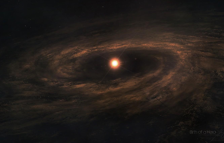Photo wallpaper star, dust, born of a star, interstellar gas