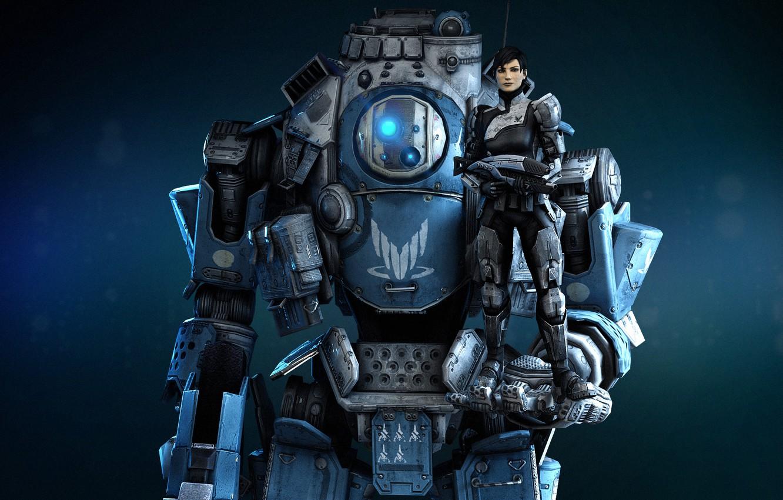 Photo wallpaper robot, robot, Shepard, Mass effect, Alliance, Titan, Titanfall