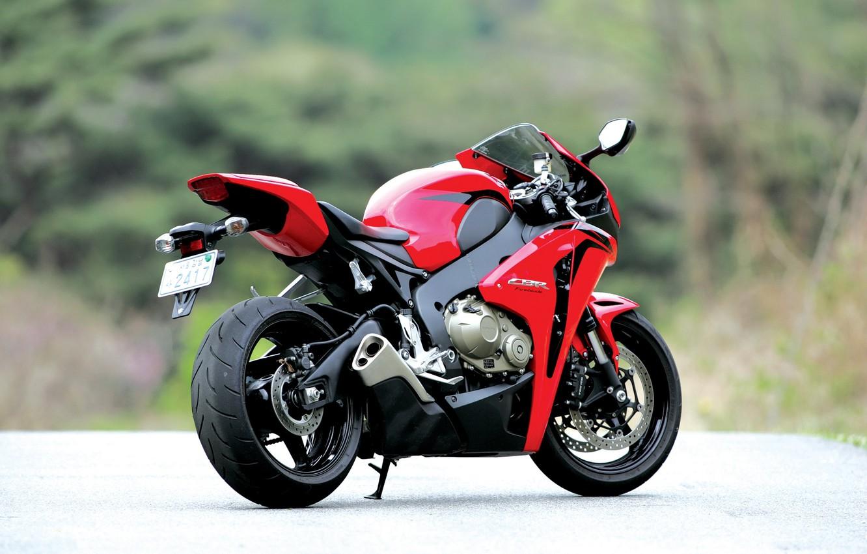 Photo wallpaper motorcycle, red, honda, rear view, bike, Honda, exhaust pipe, cbr1000rr