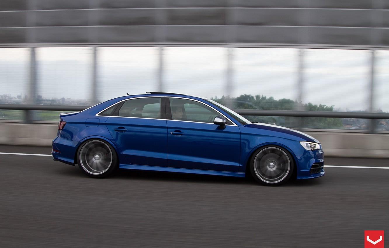 Photo wallpaper Audi, sedan, Vossen, S3