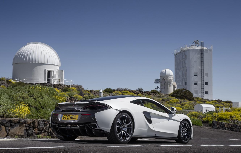 Photo wallpaper car, auto, McLaren, white, supercar, auto, back, McLaren, 570GT