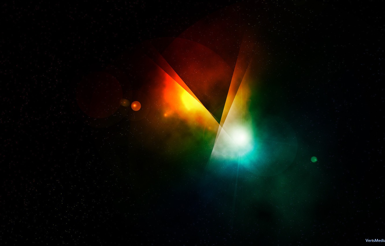 Photo wallpaper colors, rainbow, black
