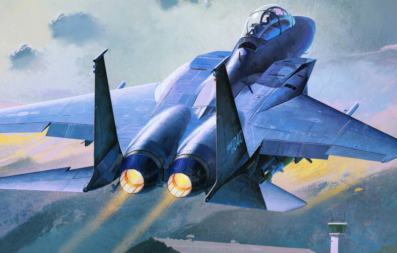 Photo wallpaper figure, the rise, fighter-bomber, Republic of Korea Air Force, slam eagle, F-15K
