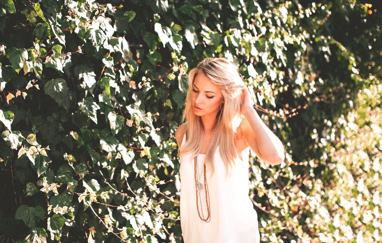 Photo wallpaper girl, blonde, Lauren York