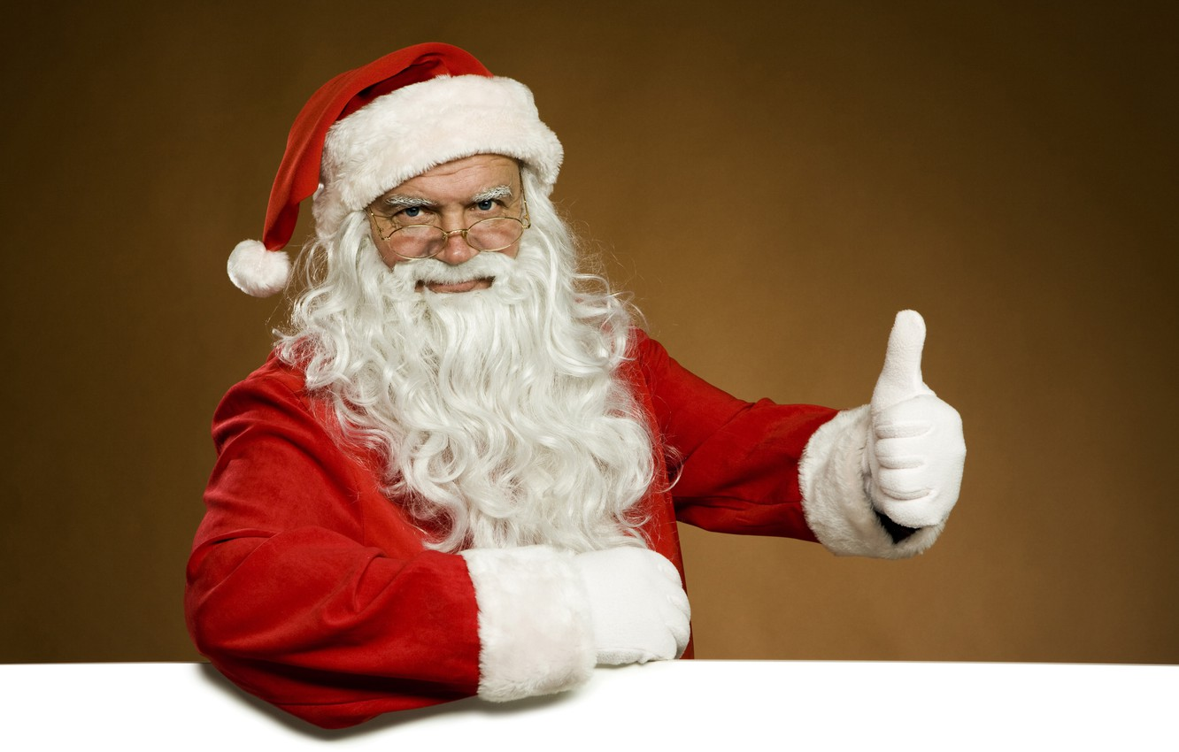 Photo wallpaper white, red, face, pose, background, new year, hand, Christmas, glasses, costume, gloves, the old man, …