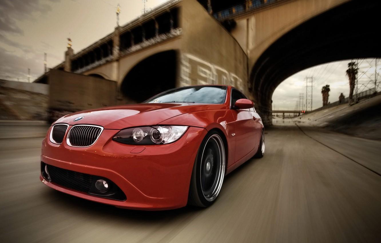 Photo wallpaper bridge, bmw, BMW, speed, series