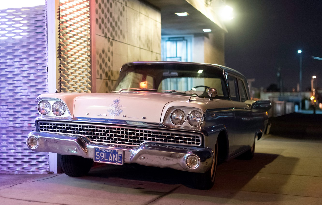 Photo wallpaper retro, Ford, classic, the front, 1959