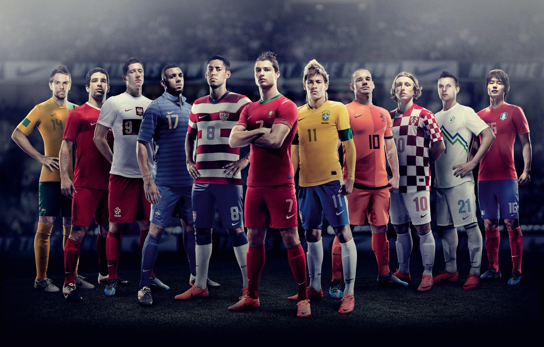 Photo wallpaper Nike, Ronaldo, Sneijder, Euro 2012, Neymar, Modric, Dempsey