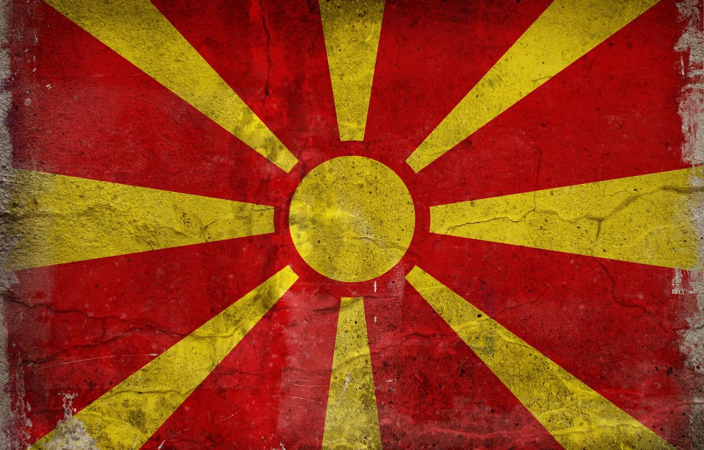Photo wallpaper color, flag, Macedonia