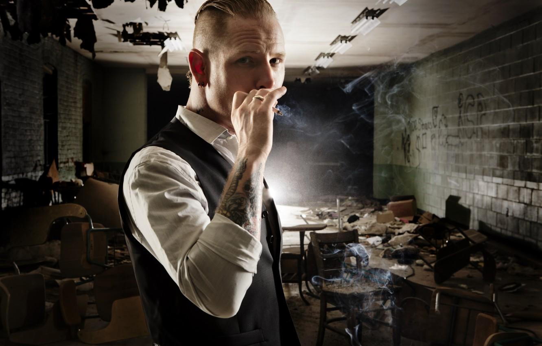 Photo wallpaper tattoo, cigarette, male, metal, Mohawk, stone, Slipknot, nu metal, alternative, stone sour, sour, Corey Taylor, …