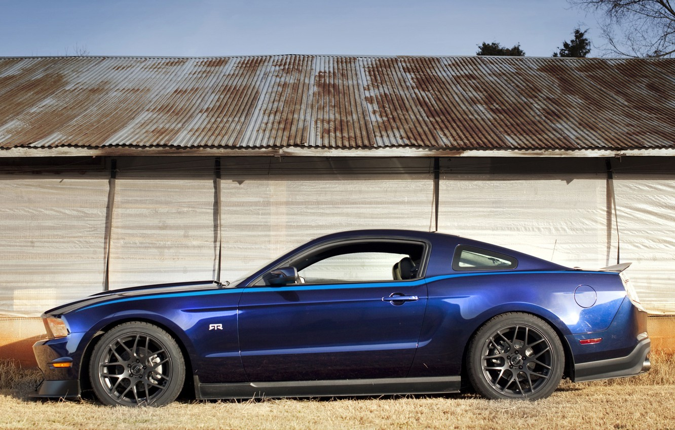 Photo wallpaper blue, Mustang, RTR, muscle, Package