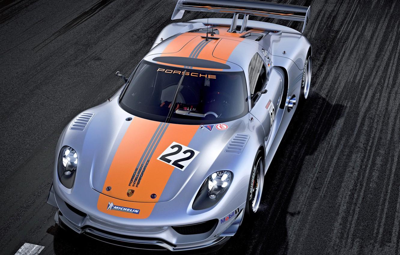 Photo wallpaper car, Concept, lights, Porsche, wallpaper, 918, the front, RSR