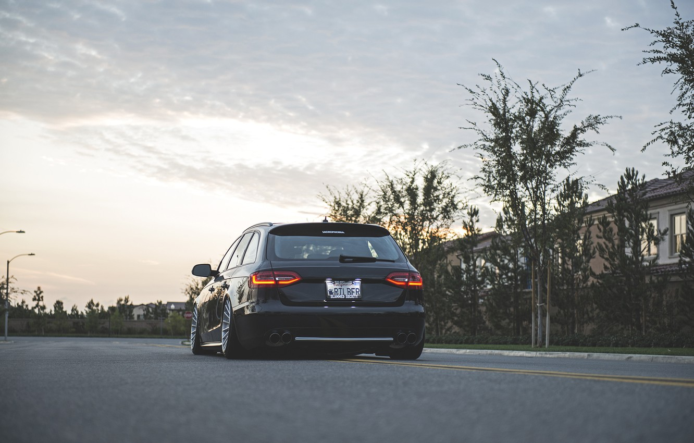 Photo wallpaper Audi, wheels, wagon, before