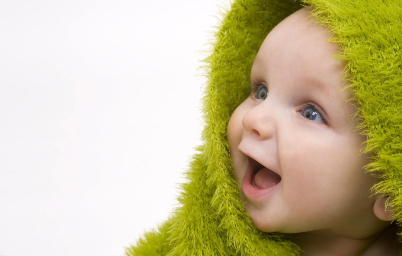 Photo wallpaper joy, freshness, smile, child, wallpaper, baby, detya