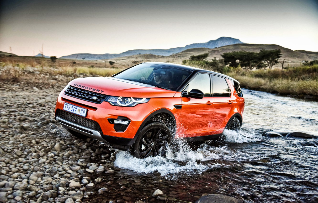 Photo wallpaper Land Rover, Discovery, Sport, discovery, land Rover, 2015, HSE, ZA-spec, L550, Luxury Black Design Pack
