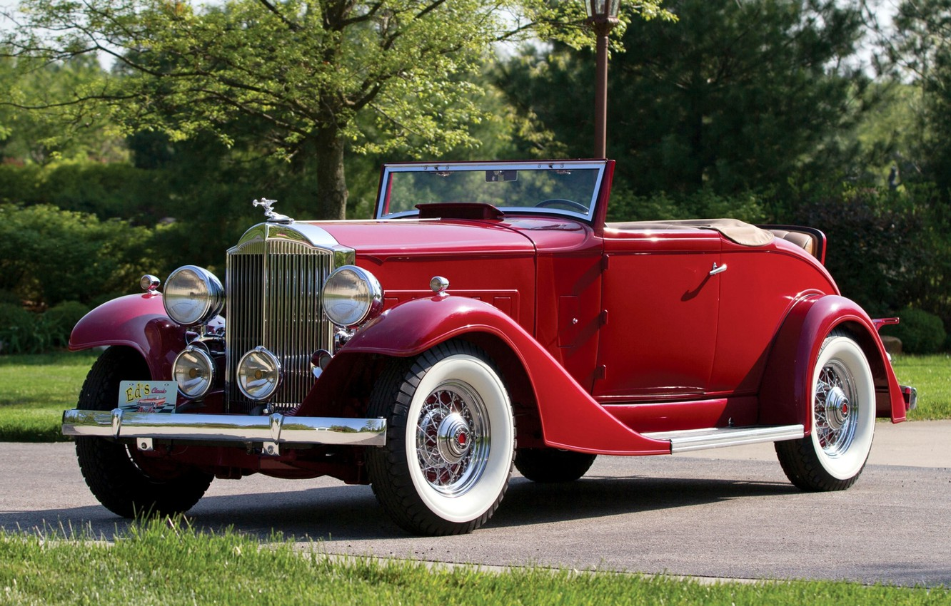 Photo wallpaper the front, 1933, Packard, Packard, Deluxe, Eight