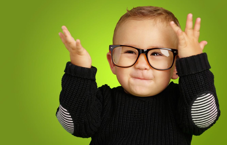 Photo wallpaper eyes, children, smile, style, child, baby, glasses, style, smile, funny, child, funny, Happy, children, kid, …