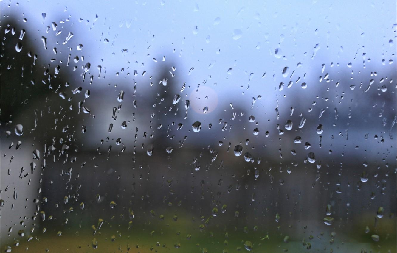 Photo wallpaper water, drops, rain, color