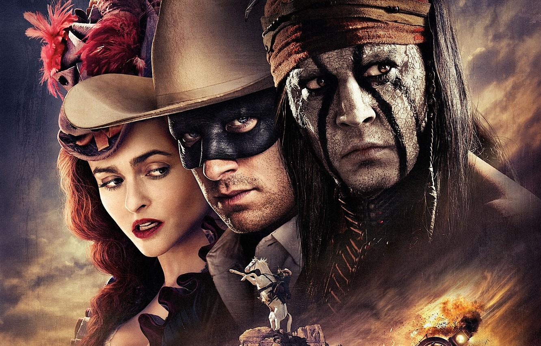 Photo wallpaper Johnny Depp, fire, girl, white, Red, black, sky, woman, blue, eyes, cloud, Train, man, films, ...