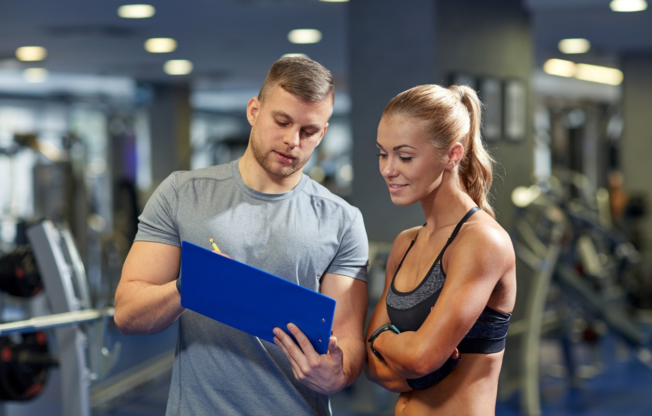 Photo wallpaper fitness, gym, coach, training, routine, results, planning, healthy life, regularity, Schedule, healthy mind