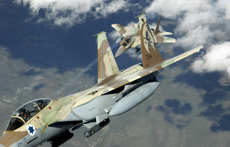 Photo wallpaper flight, maneuver, camouflage, f 15, group