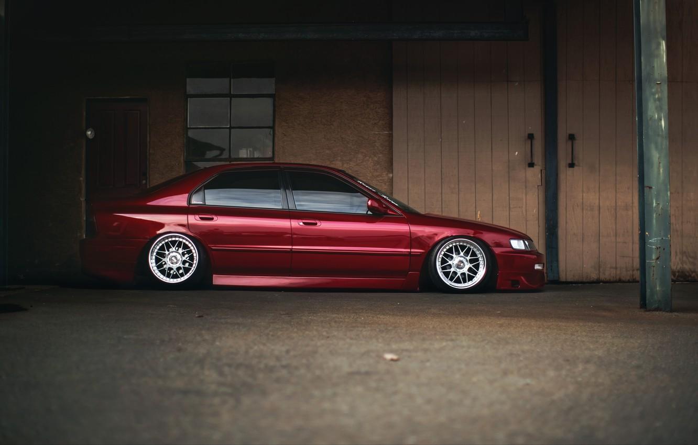 Photo wallpaper tuning, profile, red, Honda, Accord, red, Honda, chord, stance