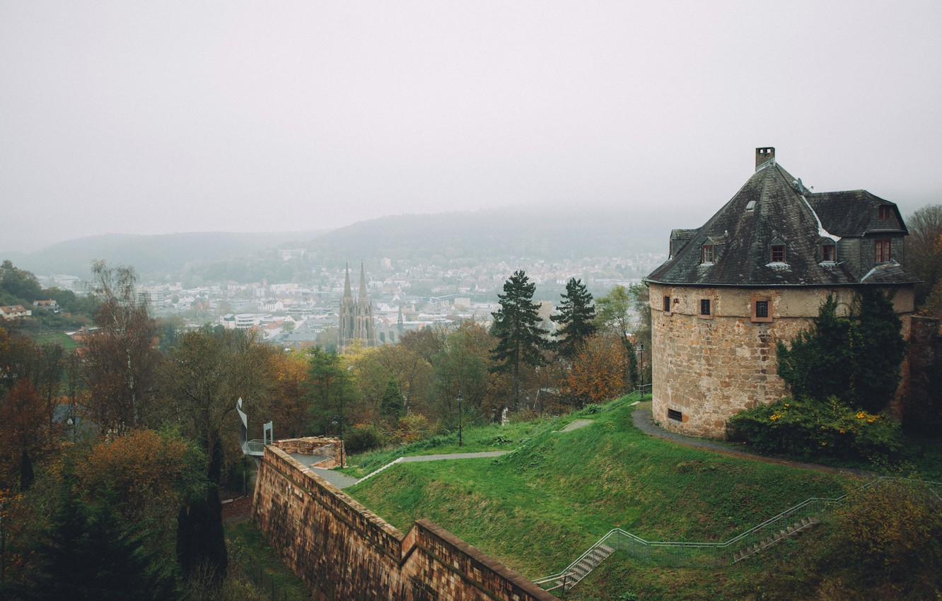 Wallpaper fog, Germany, Marburg images