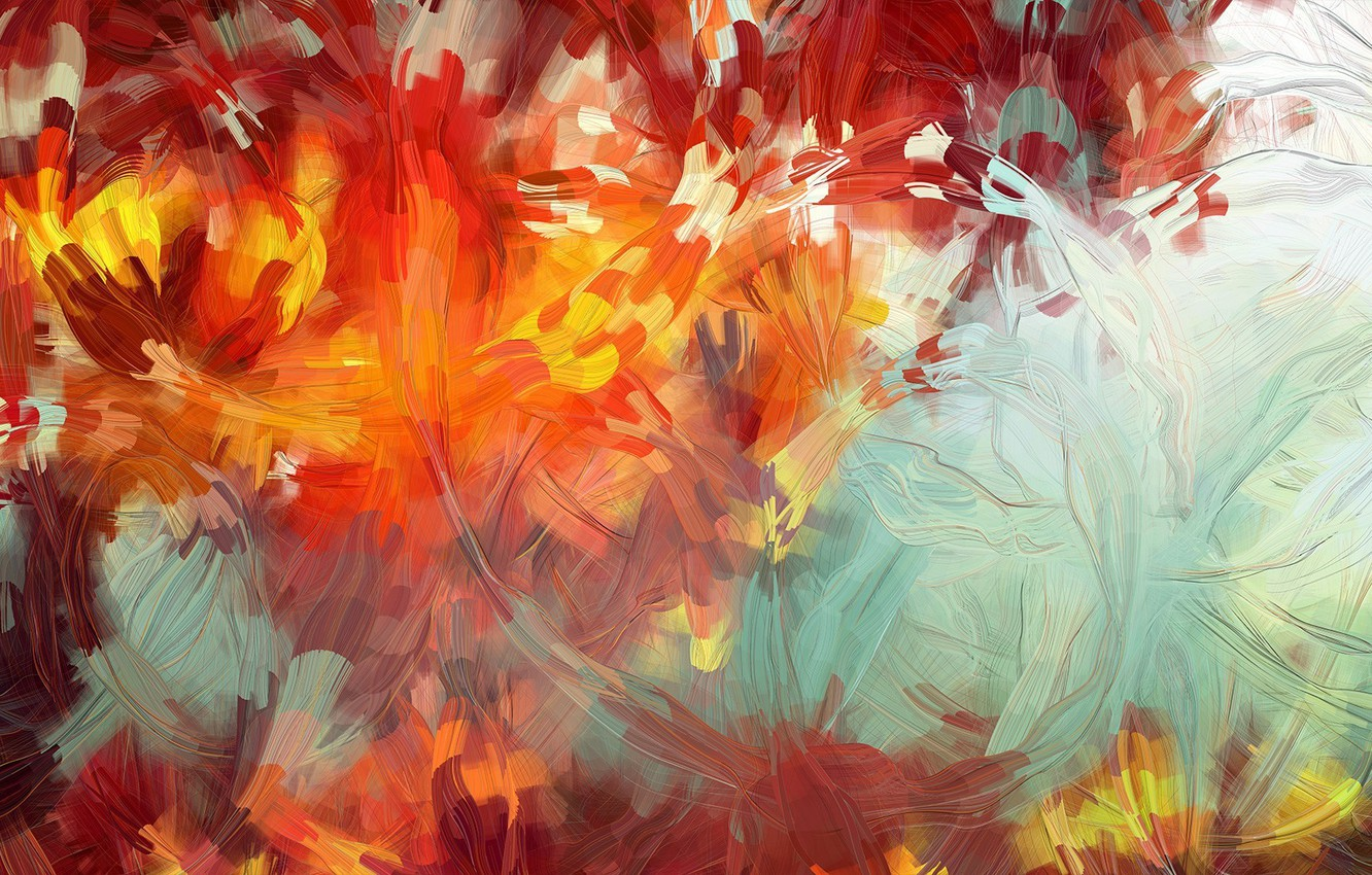 Photo wallpaper abstraction, paint, brush