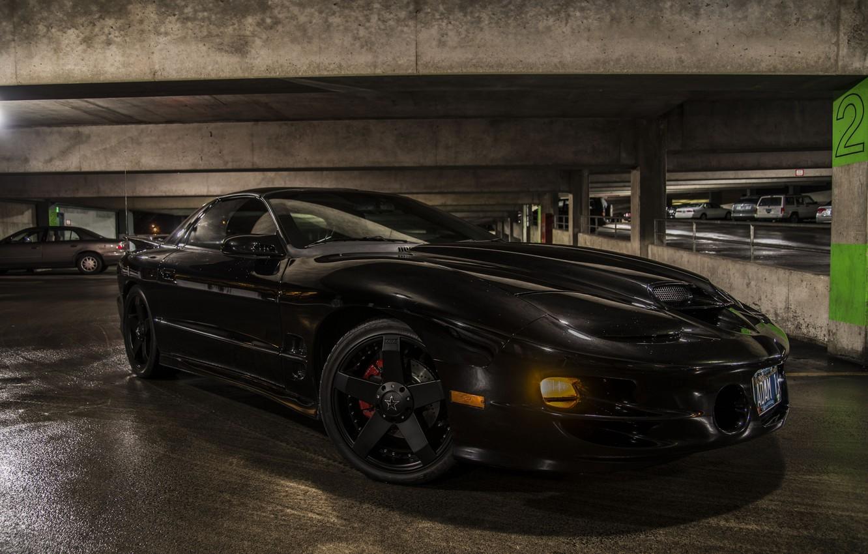 Photo wallpaper black, Parking, Pontiac