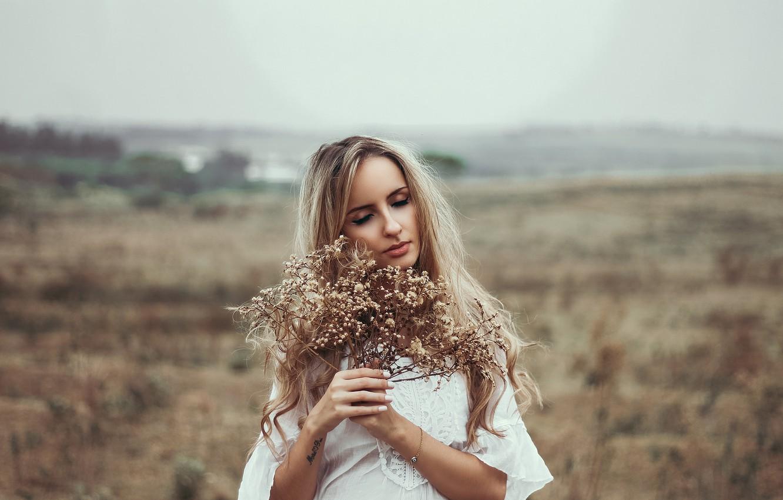 Photo wallpaper pose, blonde, Beatriz Soares
