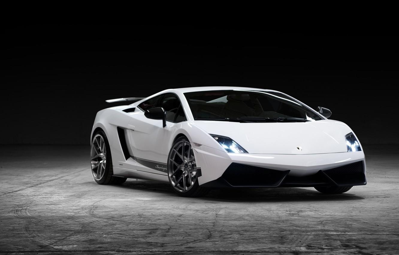 Photo wallpaper white, background, tuning, Lamborghini, supercar, Gallardo, twilight, Vorsteiner, tuning, the front, Lamborghini, Gallardo