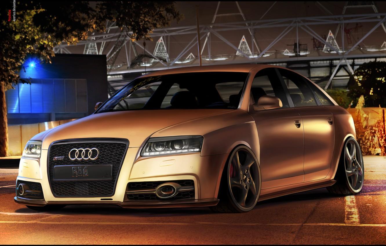 Photo wallpaper car, auto, Audi, audi, a6