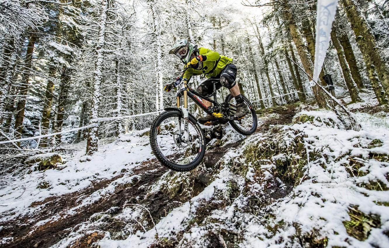 Photo wallpaper bike, race, sport