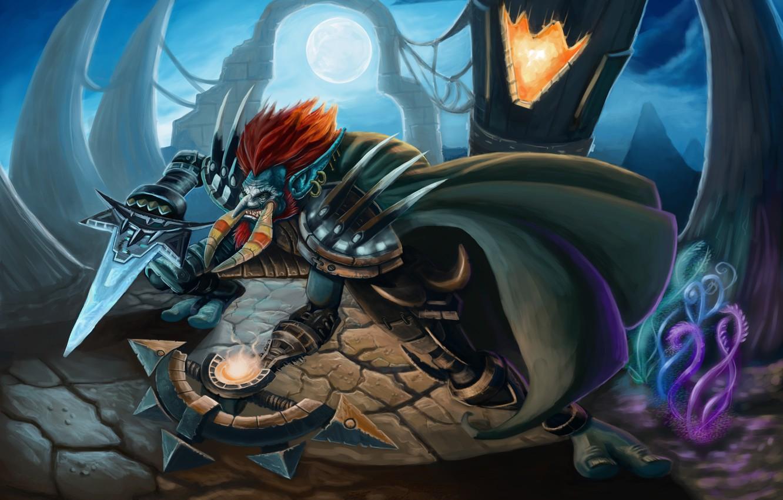 Wallpaper Wow The Robber World Of Warcraft Horn Rogue Troll