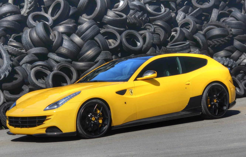 Photo wallpaper tires, Ferrari, ferrari ff, novitec_rosso
