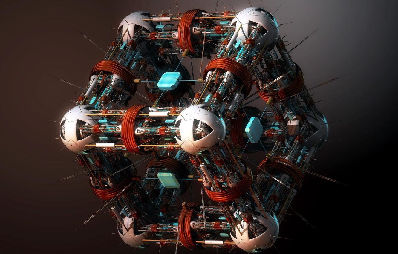 Photo wallpaper Nano Surgeon, cube