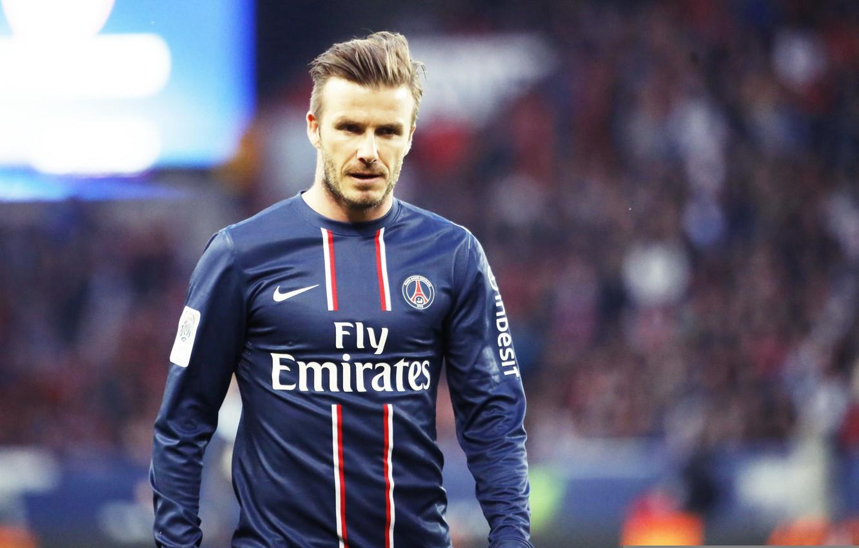 Photo wallpaper face, football, profile, male, form, David Beckham, player, nike, David Beckham, midfielder, PSG, PSG