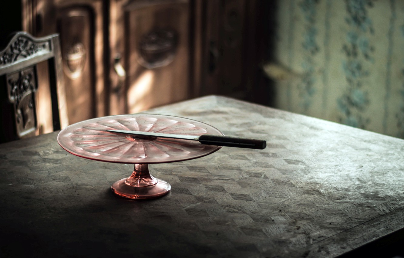 Photo wallpaper table, background, knife