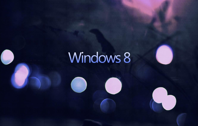 Photo wallpaper minimalism, bokeh, windows 8