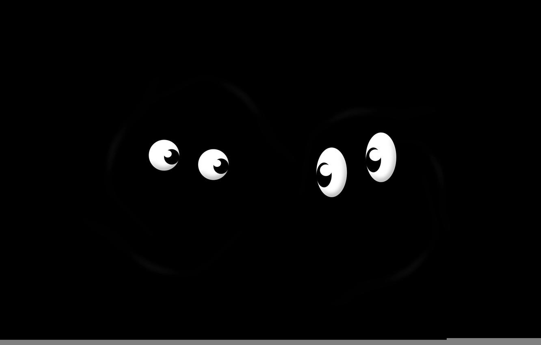 Photo wallpaper eyes, two, pupils, shape, look, black background
